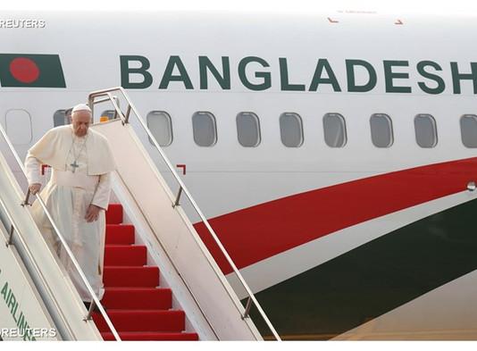 Papa Francisco chega a Bangladesh
