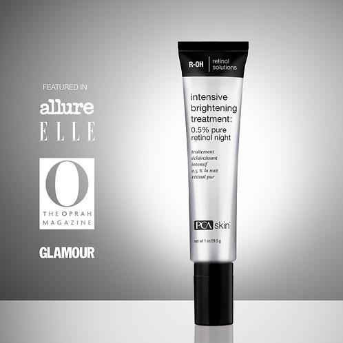 Intensive Brightening Treatment: 0.5% pure retinol (uso de noche)