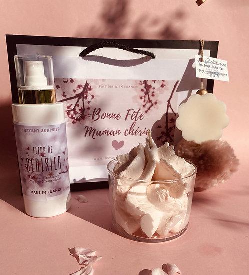Coffret parfumé fête des mères Fleur de cerisier Frais de port inclus