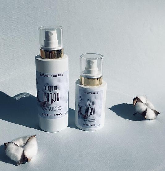 Spray d'ambiance Fleur de coton naturel et rechargeable