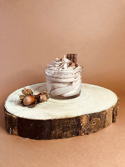 Bougie chantilly Verrine viennois rocher praliné