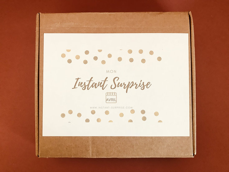 "Grande BOX bougies Avril ""Mon Instant Surprise"""