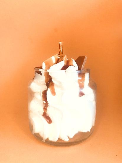 Bougie chantilly coulis Caramel au beurre salé