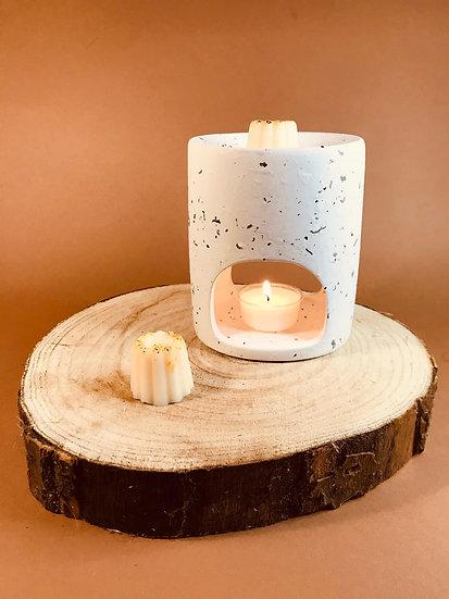 Brûleur à fondants béton blanc, gris ou mixte