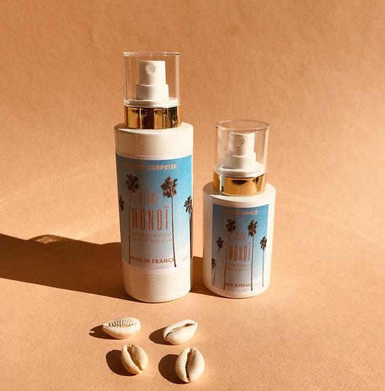 Spray d'ambiance Monoï pêche naturel et rechargeable