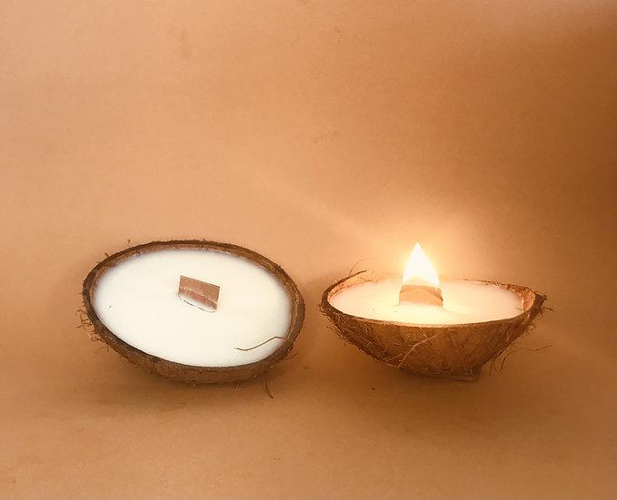 Bougie noix de coco naturelle parfumée
