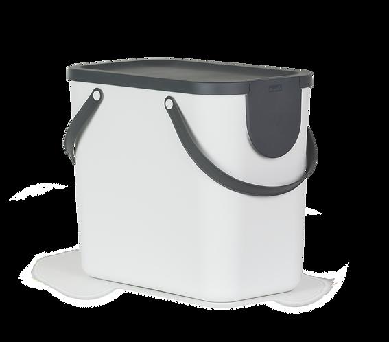 Pojemnik do segregacji odpadów 25L ALBULA biały ROTHO
