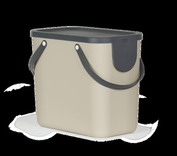 Pojemnik do segregacji odpadów 25L ALBULA cappuccino ROTHO