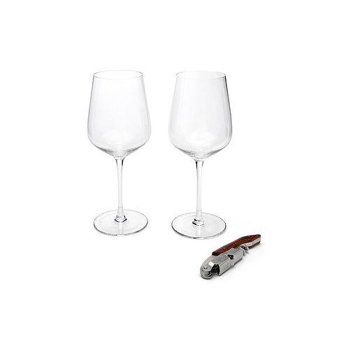 Zestaw kieliszki do wina z korkociągiem Leopold Vienna