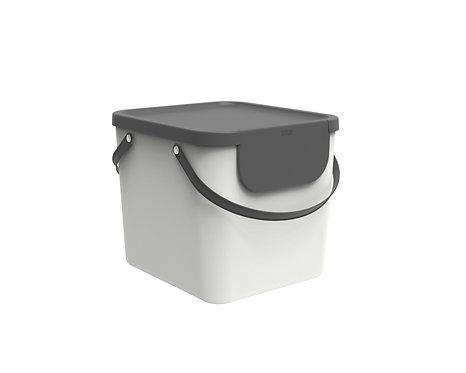 Pojemnik do segregacji odpadów 40L ALBULA biały ROTHO