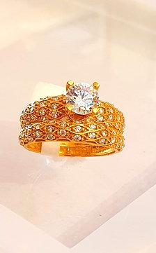 22CT gold ring set - Engagement Rings / Wedding Set (twin rings)