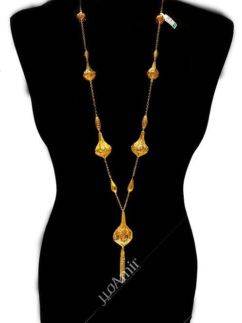 Arabic gold Long Chain Pendants Necklace 21ct