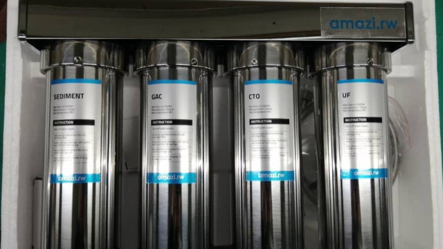 Four stage stainless steel filter with UF