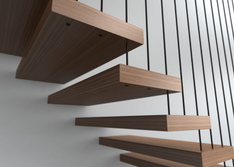 Suspended Wired Balustrade Half with Flo