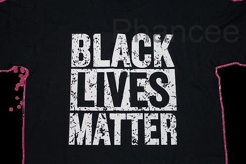 Black Lives Matter White Distressed
