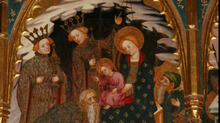 """Pedro Cuesta ha presentado su libro en Vilafranca, """"El retaule gòtic de Sant Martí Sarroca""""."""
