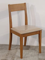 Sedia legno sedile imbottito Fantoni  _1
