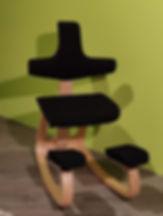 Seduta Ergonomica Thatsit naturale-nero