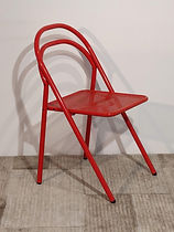 Sedia pieghevole metallo rosso_113329.jp