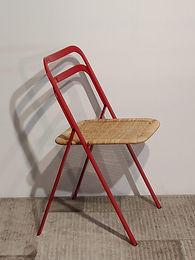 Sedia Clio pieghevole sedile midollino.C