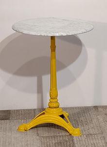 Tavolino Ghisa gialla - marmo bianco _11