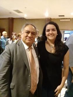 Con el Dr. Tomás Alcocer