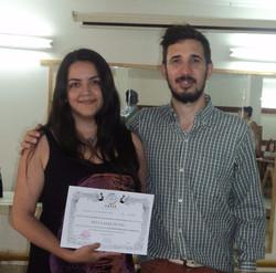 Recibiendo diploma del CAFSE