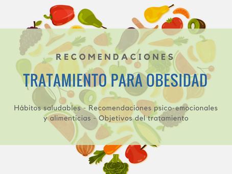 Recomendaciones - Tratamiento para Obesidad