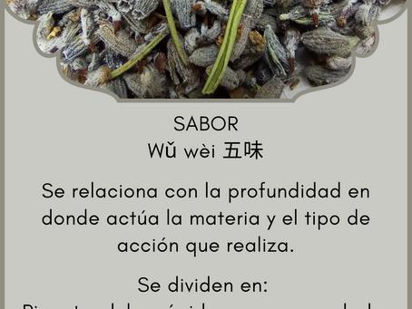 Fitoterapia china: Sabores - Wǔ Wèi 五味
