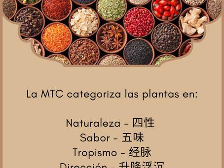 Las clasificaciones de la Fitoterapia Tradicional China