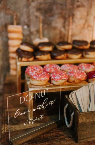 Donuts, wedding donuts, wedding desserts, king plow, king plow atlanta, atlanta wedding, atlanta wedding planner
