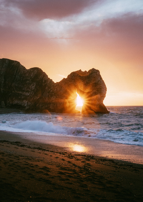 Durdle Door Sun Star