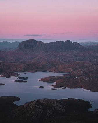 91- sunset view of Suilven from Stac Pol