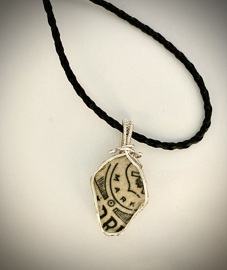 Scottish Sea Pottery Pendant