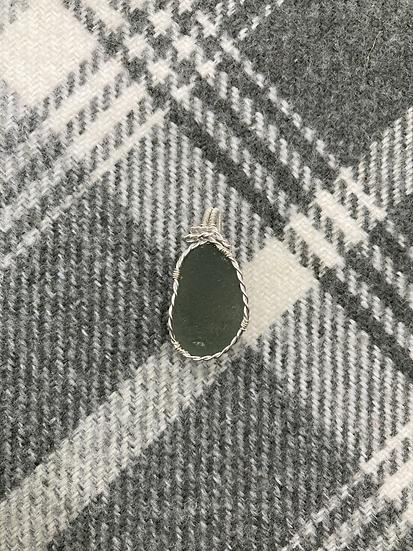 Handmade Pendant - Rare Grey Scottish Seaglass