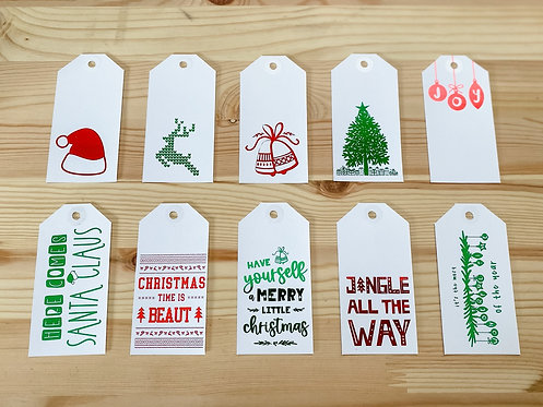 The CLASSIC CHRISTMAS Collection // 10pk Gift Tags