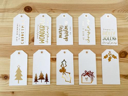 The MODERN CHRISTMAS Collection // 10pk Gift Tags