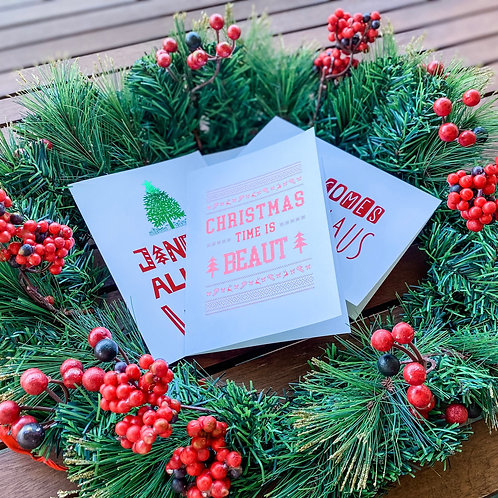 The CLASSIC CHRISTMAS Collection // 5 pk of Cards