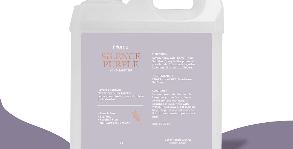 Ratel Home Silence Purple Hand Sanitizer 1 Liter