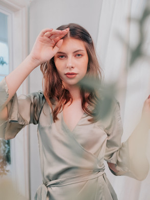 Eden Robe in Light Olive