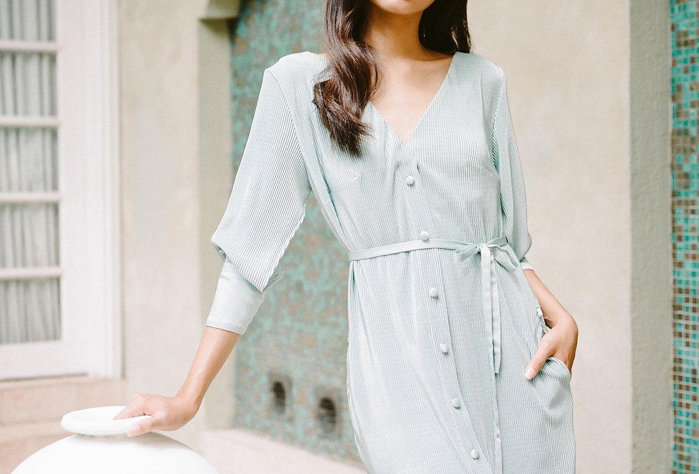 Garn Shirt Dress - Dusty Green