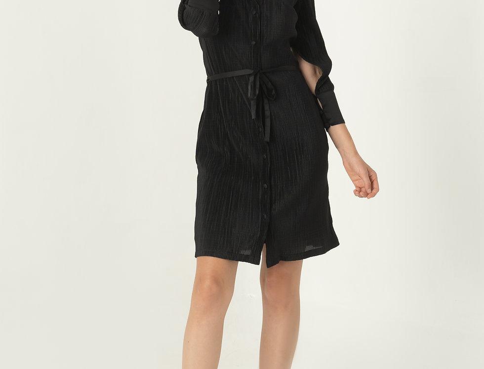 Garn Shirt Dress - Black