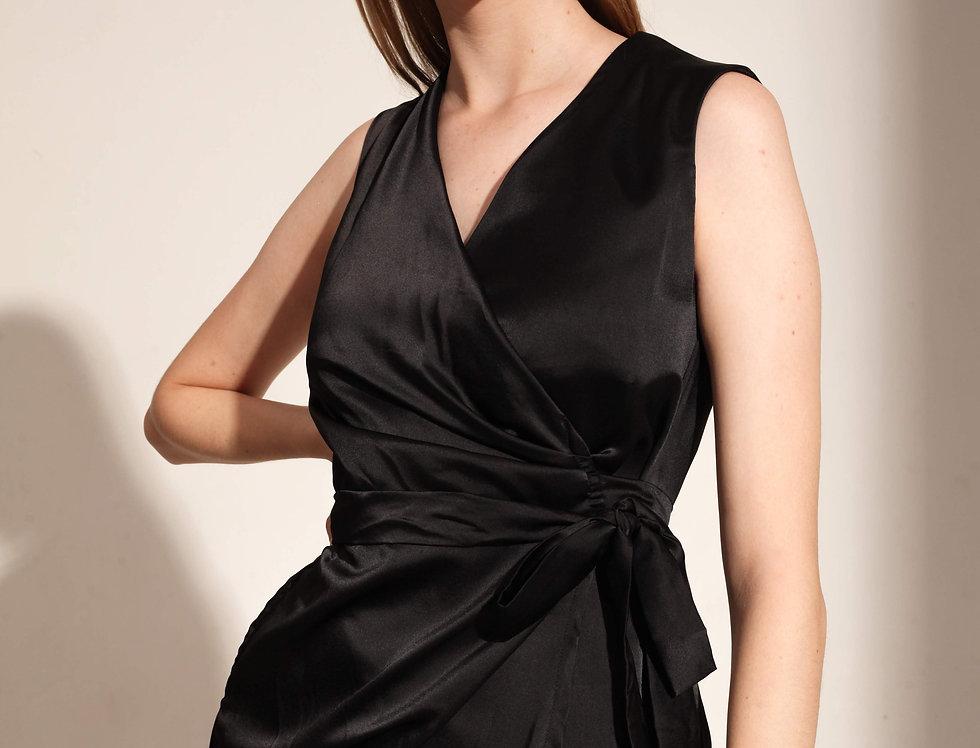 Aten Wrap Dress - Black