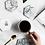 Thumbnail: Carrara Marble Hexagon Coaster - Hui Jia