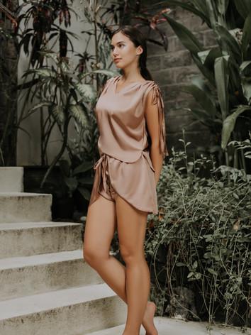 Allegra Ruched Top & Namaste Shorts