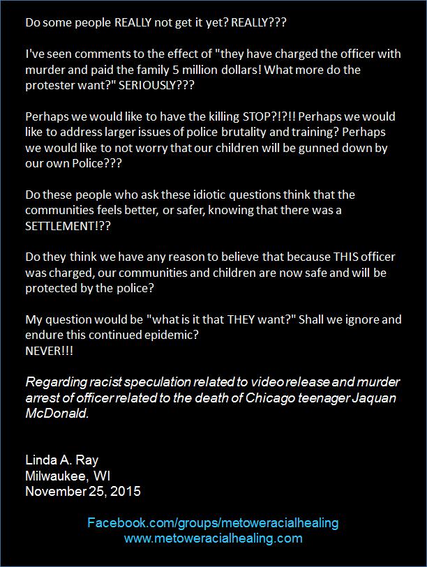 Linda A Ray November 25, 2015