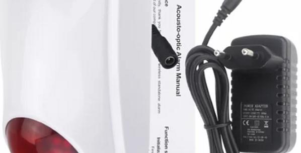 Sirene de alarme sem fios PST-GW103 anti-roubo para espaços exteriores