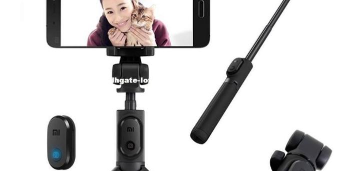 Tripé Xiaomi Mi Selfie, c/Bluetooth, Temporizador e s/fio, p/ smartphone