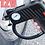 Thumbnail: Bomba compressor de ar portátil para carros, motos, bicicletas e outros fins
