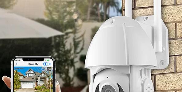"Camera de segurança PTZ Tuya Smart 1080P 3.0MP WIFI 2.4"" Real Time PST-ST-39"